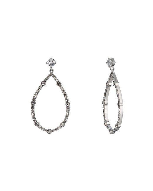 Carolee | Metallic Social Soiree Cz Pear Shaped Gypsy Hoop Earrings | Lyst