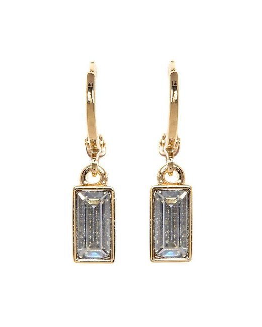 Vince Camuto | Metallic Museum Baguette Drop Earrings | Lyst
