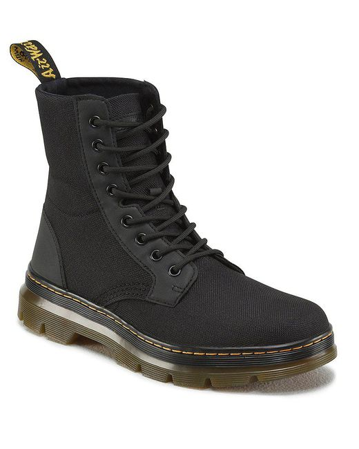 Dr. Martens - Black Combs 8-Eye Canvas Ankle Boots for Men - Lyst