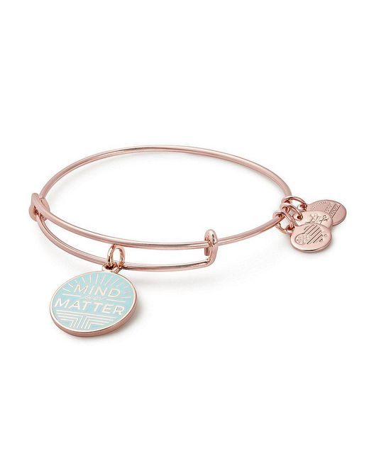 ALEX AND ANI | Metallic Mind Over Matter Charm Bangle Bracelet | Lyst