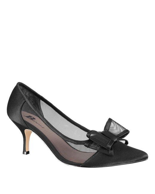 8a5ccecf474 Nina - Black Bianca Mesh Satin Bow Pumps - Lyst ...