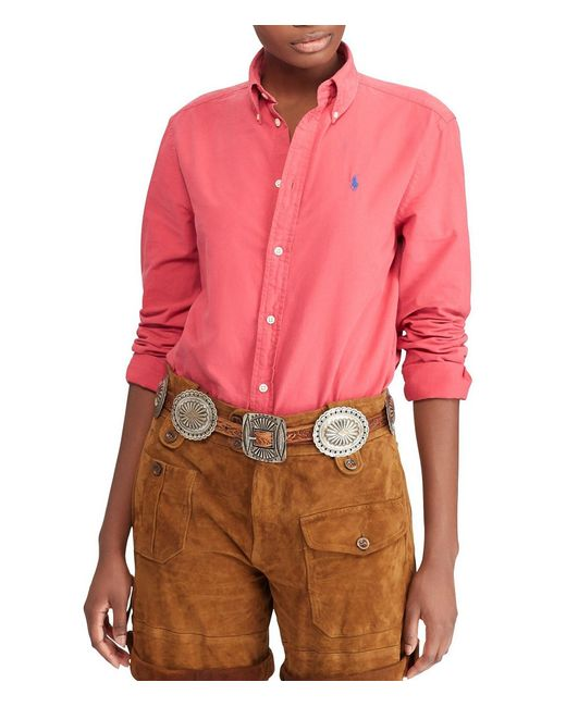Polo Ralph Lauren - Red Relaxed Fit Oxford Shirt - Lyst