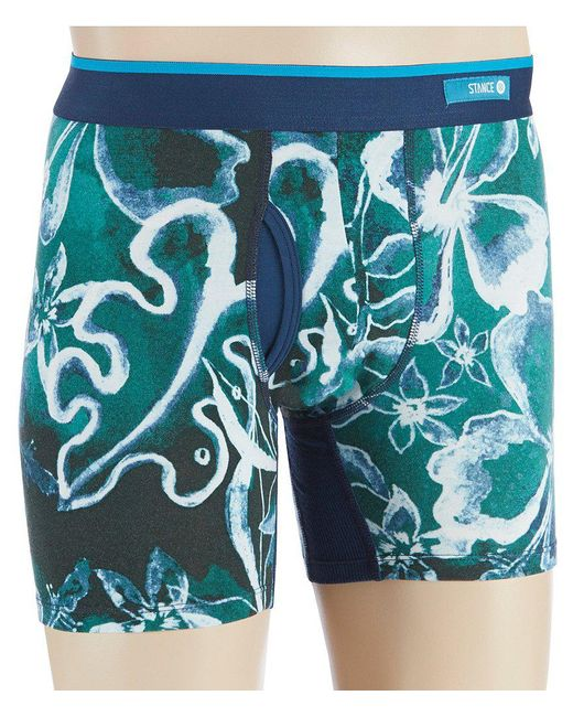 Stance - Green Oxidized Floral Boxer Briefs for Men - Lyst