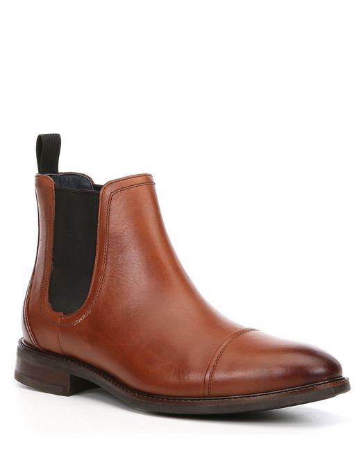 Cole Haan Brown Men's Buckland Leather Block Heel Chelsea for men