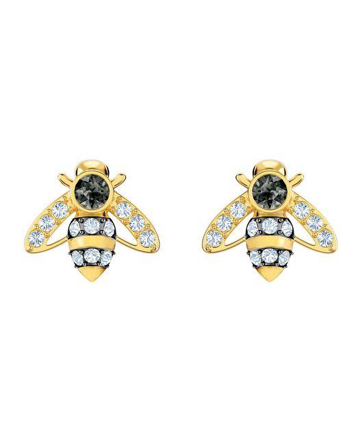 Swarovski - Metallic Bee Stud Earrings - Lyst