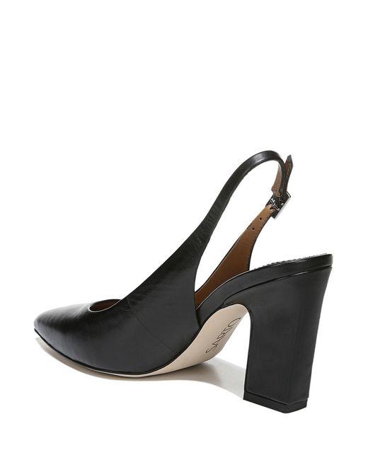 4c583cd153b4c ... Franco Sarto - Black Sarto By Sophie Leather Block Heel Sling Pumps -  Lyst ...