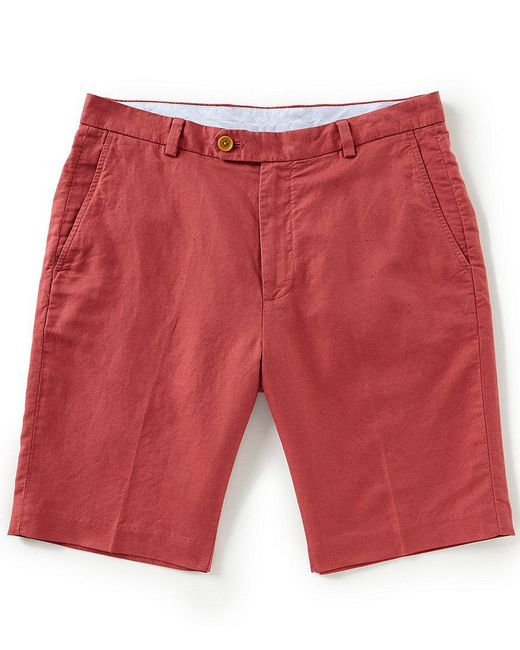 """Brooks Brothers - Red Houndstooth Linen 10"""" Shorts - Lyst"""
