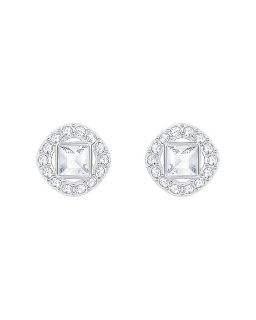 Swarovski - Metallic Angelic Stud Earrings - Lyst