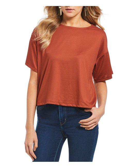 June & Hudson - Orange Twistback Knit Top - Lyst