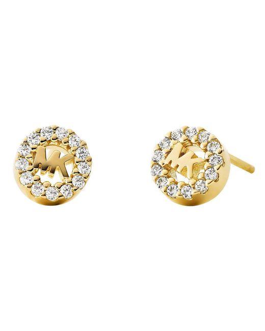 Michael Kors - Metallic Custom Kors Collection Sterling Silver Mk Signature Logo Stud Earrings - Lyst
