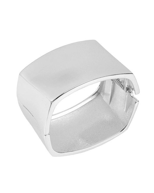 Robert Lee Morris | Metallic Square Hinge Bangle Bracelet | Lyst