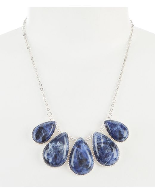 Dillard's - Blue Sodalite Teardrop Collar Necklace - Lyst