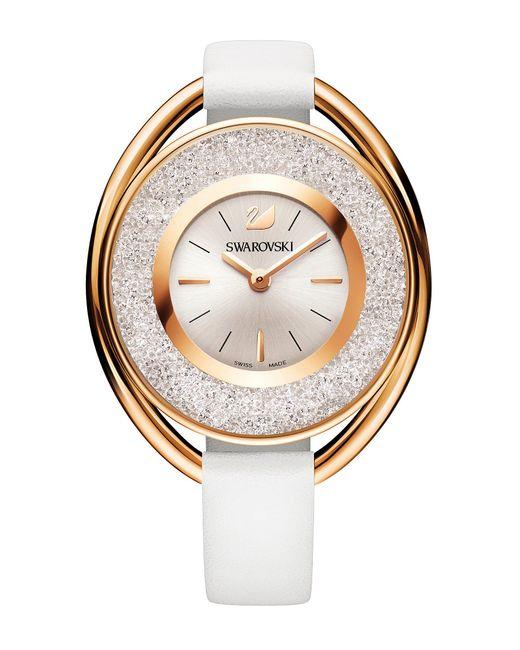 Swarovski - White Crystalline Analog Leather-strap Watch - Lyst