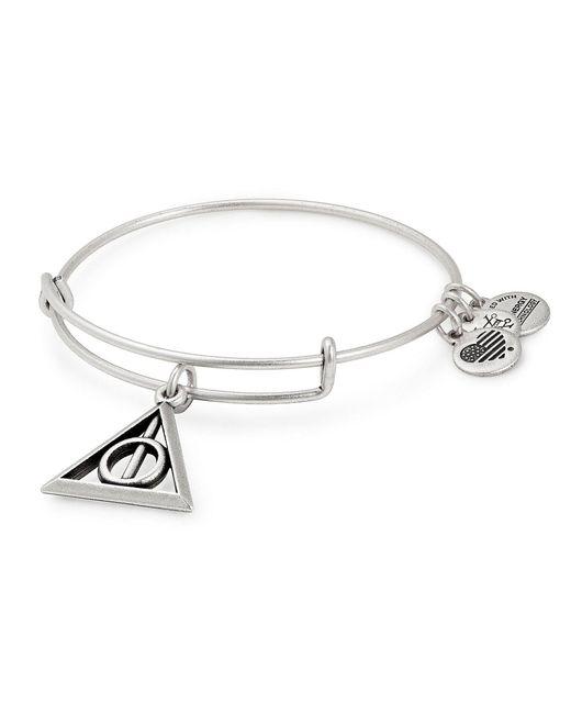ALEX AND ANI - Metallic Harry Pottertm Deathly Hallowstm Charm Bangle Bracelet - Lyst