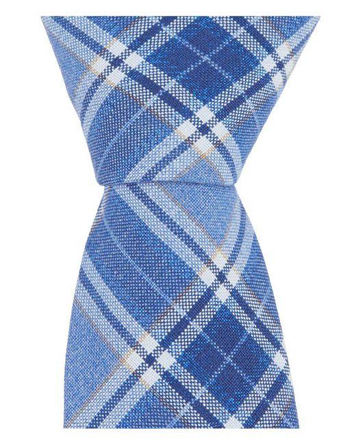 Original Penguin   Blue Inversion Plaid Skinny Tie for Men   Lyst