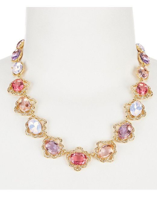 Carolee | Multicolor Spring Bouquet Collar Necklace | Lyst