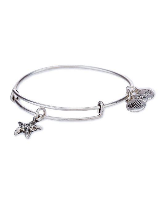 ALEX AND ANI - Metallic Starfish Charm Bangle Bracelet - Lyst