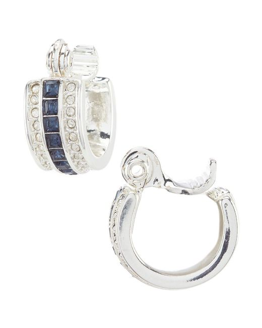Lauren by Ralph Lauren - Blue Stone Hoop Earrings - Lyst