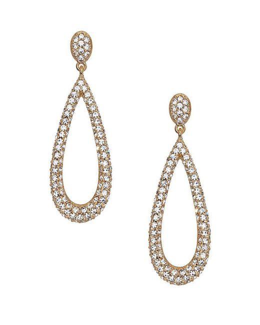 Nadri | Metallic Crystal Teardrop Earrings | Lyst