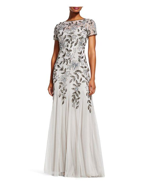 Adrianna Papell Petite Floral Beaded Gown Save 30 Lyst
