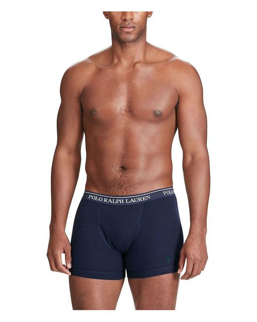 Polo Ralph Lauren | Blue Jersey Boxer Briefs Assorted 3-pack for Men | Lyst