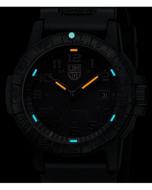 Men S Black Sea Turtle 0320 Polyurethane Strap Watch