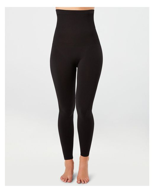 a839d285b7 Spanx - Black High Waisted Look At Me Now High-waisted Seamless Legging -  Lyst ...