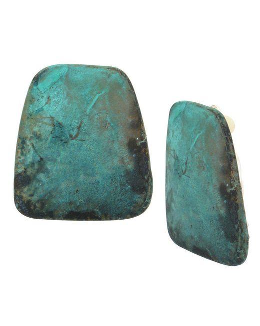 Robert Lee Morris - Green Patina Stone Clip-on Earrings - Lyst