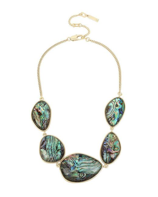 Kenneth Cole   Green Abalone Frontal Necklace   Lyst