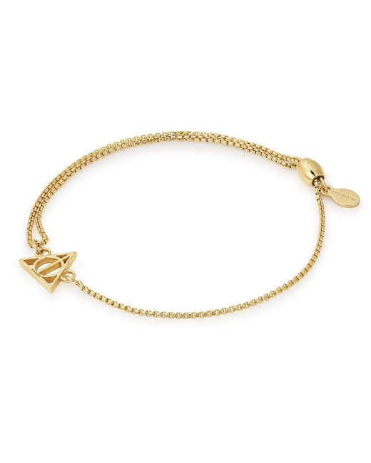 ALEX AND ANI - Metallic Harry Potter Deathly Hallows Fine Pull Chain Bracelet - Lyst