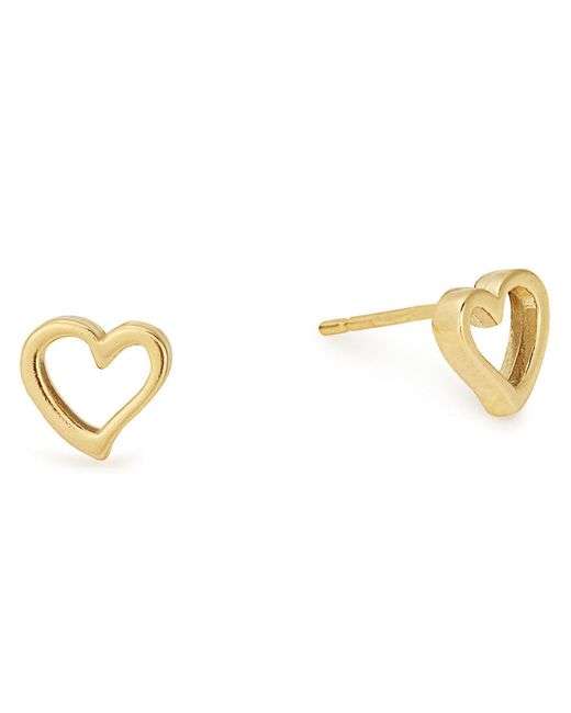 ALEX AND ANI - Metallic Heart Stud Earrings - Lyst