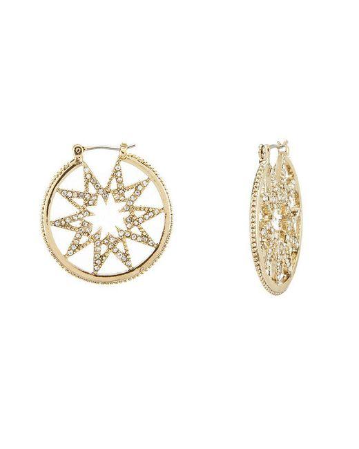 Marchesa - Metallic Dainty Detour Star Hoop Earrings - Lyst