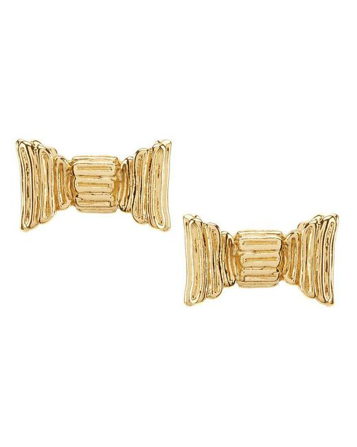 Kate Spade | Metallic All Wrapped Up Bow Stud Earrings | Lyst