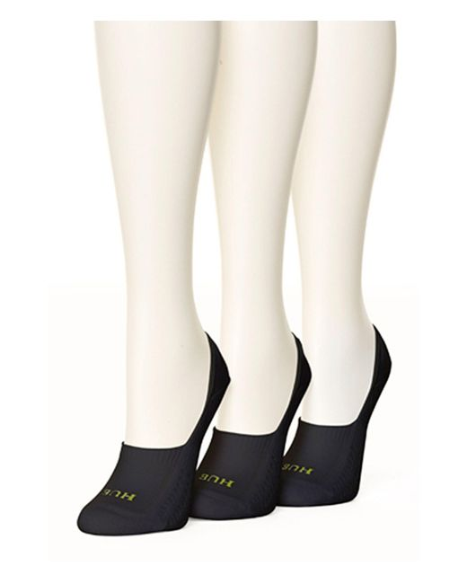 Hue - Black Air Cushion Breathable Liner Socks, 3 Pack - Lyst