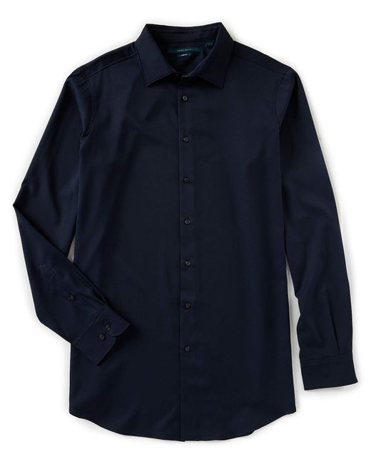 Perry Ellis - Blue Big & Tall Solid Stretch Long-sleeve Woven Shirt for Men - Lyst