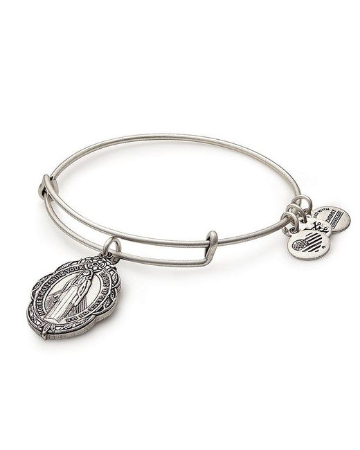 ALEX AND ANI - Metallic Mother Mary Charm Bangle Bracelet - Lyst