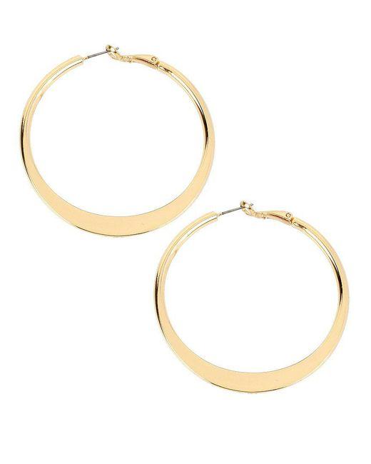 Kenneth Cole | Metallic Sculptural Hoop Earrings | Lyst