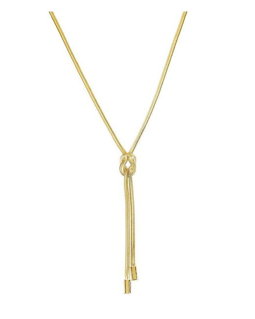 Kenneth Cole | Metallic Knot Y-shaped Necklace | Lyst