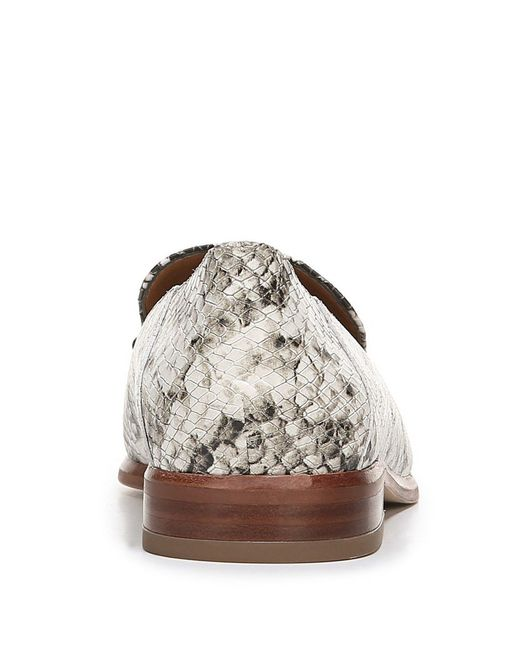 9950b5f7515e ... Franco Sarto - Natural Sarto By Portia 2 Shiny Snake Print Leather  Loafers - Lyst