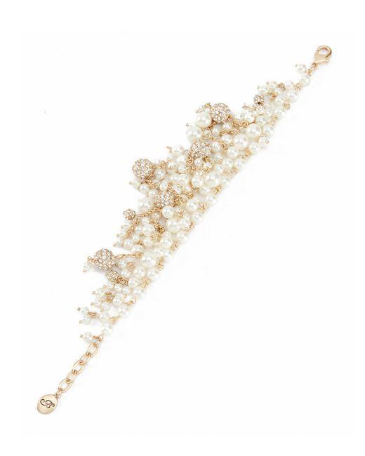 Belle By Badgley Mischka - Metallic Pearl Fireball Liner Bracelet - Lyst