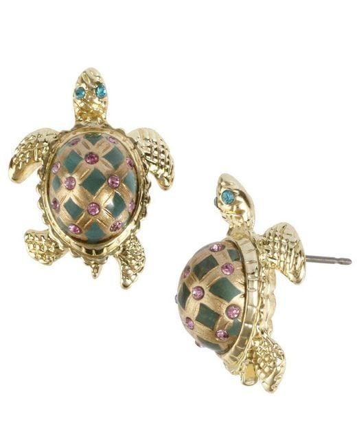 Betsey Johnson - Green Turtle Stud Earrings - Lyst