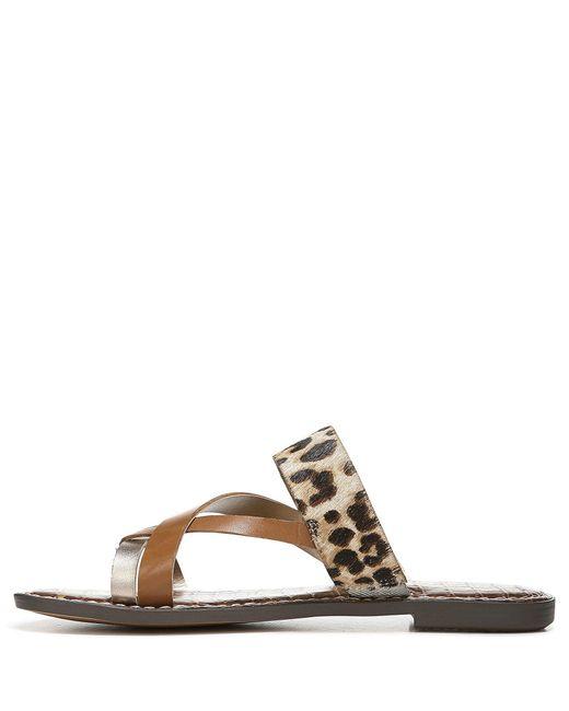 044ec30540885 ... Sam Edelman - Multicolor Gael Leather   Leopard Print Calf Hair Sandals  - Lyst