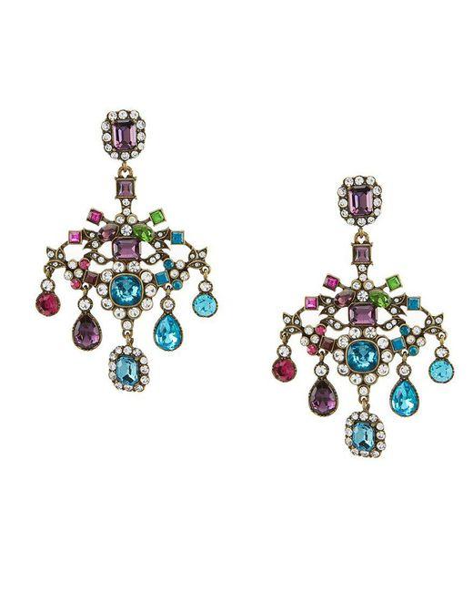 Betsey Johnson   Blue Multi-color Chandelier Statement Earrings   Lyst