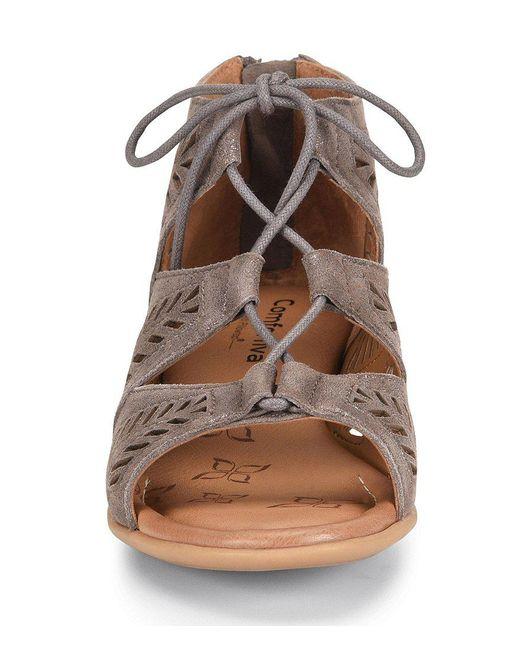 Comfortiva Riley Metallic Suede Block Heel Sandals 3OE73eT