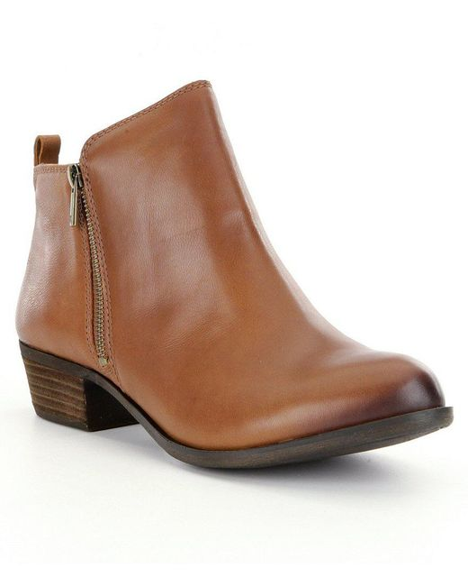 Lucky Brand | Black Basel Leather Ankle Boots | Lyst