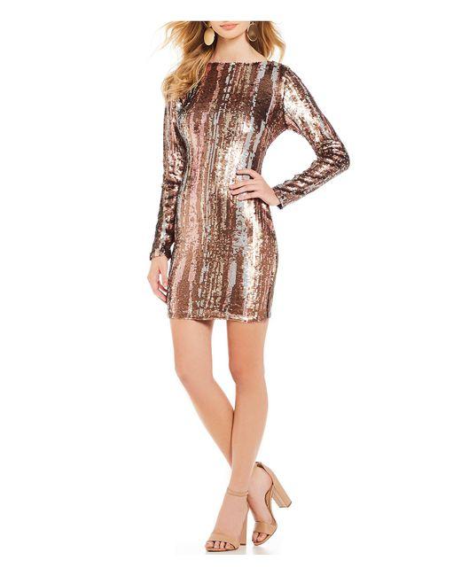 Dress the Population - Multicolor Lola Liquid Scoop Back Sequin Mini Sheath Dress - Lyst