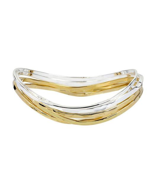 Robert Lee Morris | Metallic Two-tone Bangle Bracelet, Set Of 5 | Lyst