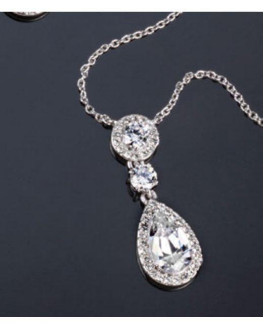 Nadri - Metallic Multi Cubic Zirconia Pendant Necklace - Lyst