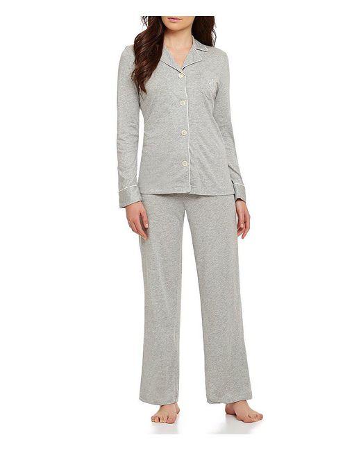 Lauren by Ralph Lauren | Gray Hammond Knit Pajamas | Lyst
