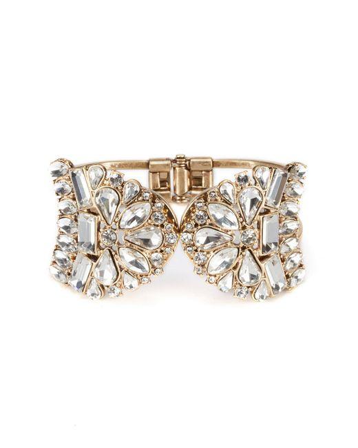 Belle By Badgley Mischka - Metallic Vintage Crystal Cuff Hinge Bracelet - Lyst